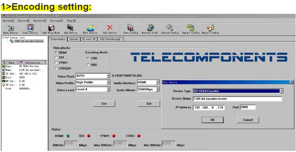 DVB HD Encoder SD/HD H 265